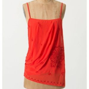 Anthropologie Ric Rac Embroidered Camisole S